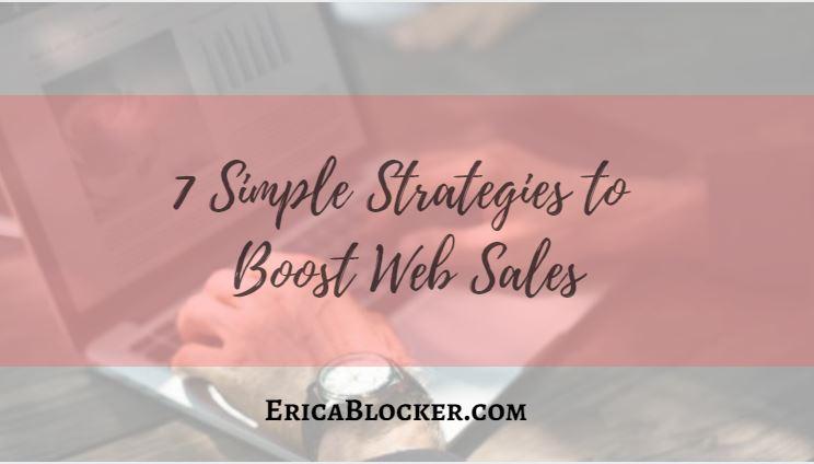 7 Simple Strategies to Boost Web Sales