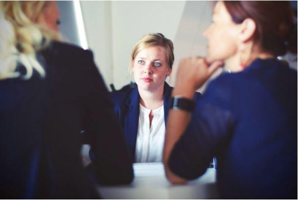 women brainstorming